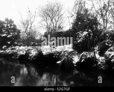Temps de neige à Hangzhou- Chine Photo Stock