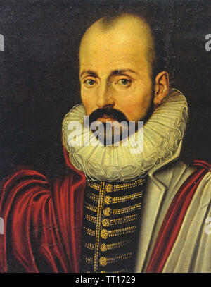 MICHEL DE MONTAIGNE (1533-1592) philosophe et essayiste français Photo Stock