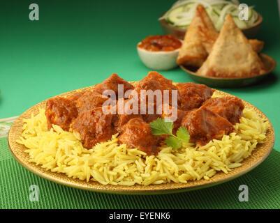 Poulet tikka masala indien Photo Stock