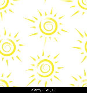 Modèle sans couture avec sun peint. La conception de plans, papiers peints, couvre, d'emballage et de matériel. Photo Stock