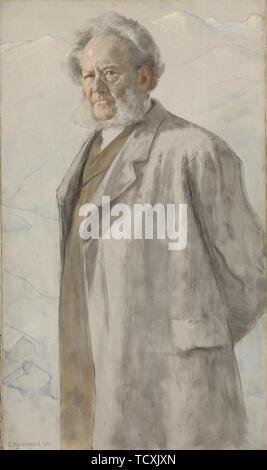 Portrait d'Henrik Ibsen (1828-1906), 1895. On trouve dans la collection de Nasjonalmuseet for Kunst, Arkitektur og Design, Oslo. Photo Stock