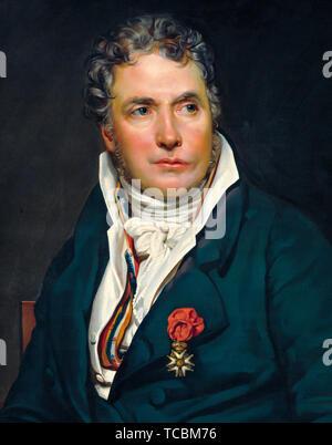 Studio de Georges Rouget, Jacques Louis David, portrait peinture (détail), vers 1813 Photo Stock