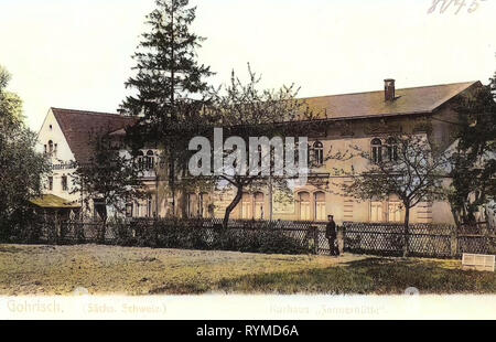 Bâtiments Spa en Saxe, l'histoire de Sayda, 1906, Sächsische Schweiz-Osterzgebirge, Sayda, Sennerhütte Kurhaus, Allemagne Photo Stock