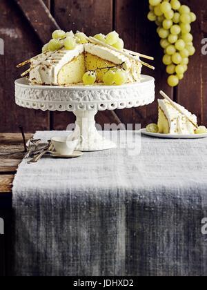 Tarte pâte aux raisins Photo Stock