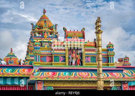L'Ile Maurice, Rivière du Rempart, Temple Hindou, Rameshwarnath Mandir Photo Stock