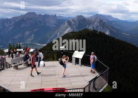 Rockie Mountains, les montagnes de soufre, parc national de Banff. Photo Stock