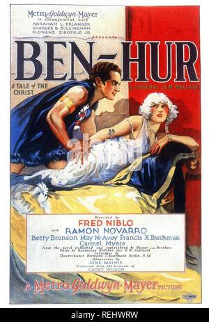 BEN-HUR: A TALE OF THE CHRIST 1925 MGM film muet avec Ramon Novarro et peut McAvoy Photo Stock