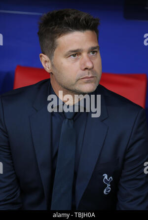 Madrid, Espagne. 01 Juin, 2019. Mauricio Pochettino, Tottenham Fc Manager 2019: Crédit photo Allstar Bibliothèque/Alamy Live News Photo Stock