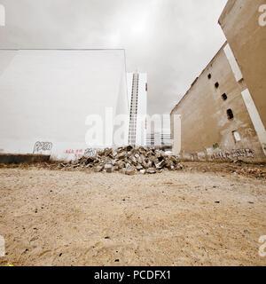 Blank,vieille ruine,building Photo Stock