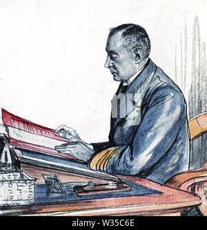 HENRYJACKSON (1855-1929) officier de la Marine royale et de navire à navire pionnier sans fil Photo Stock