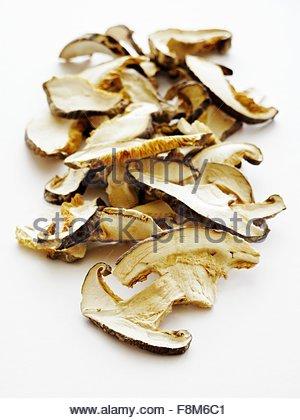 Champignons shiitake séchés Photo Stock