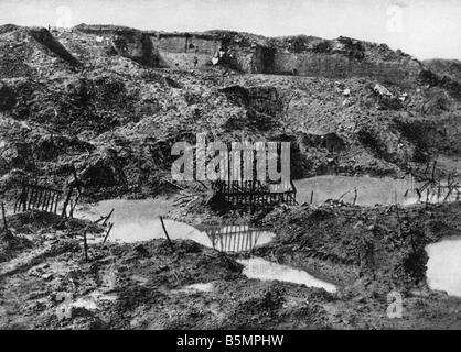 9 1916 221 A1 E Froide Terre près de Verdun Photo 1917 La Première Guerre mondiale, Front de l'Ouest Photo Stock