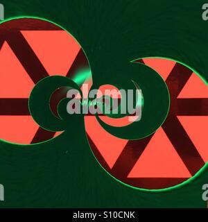 Résumé photo - cercles en orange, vert et noir Photo Stock