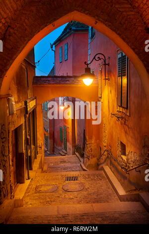 La vieille ville de Sibiu, en Transylvanie, Roumanie Photo Stock