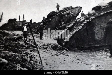 Action sur le front occidental pendant la Première Guerre mondiale, 1915-1916. La marque britannique, j'ai Photo Stock