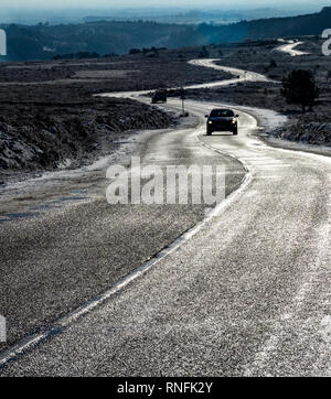 La route d'argent l'Hutton le Hole, North Yorkshire Moors National P{arche Photo Stock