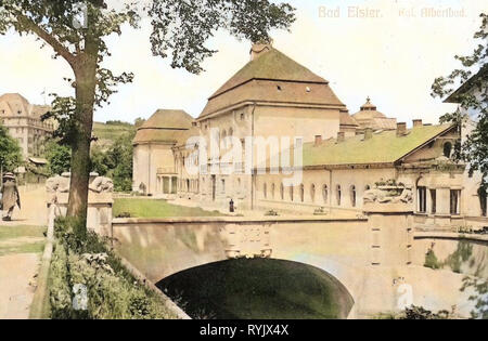 König-Albert-mauvais (Bad Elster), 1911, Vogtlandkreis, Bad Elster, Königliches Albertbad, Allemagne Photo Stock