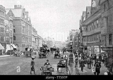 HIGH Holborn, Londres, à l'est en 1890 Photo Stock