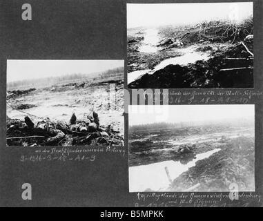 9 1916 318 A1 16 E Bataille de Postawy 1916 champ de bataille Guerre Mondiale 1 Front de l'est la défaite Photo Stock