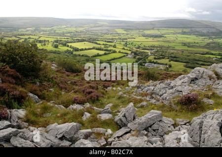 Montagnes du Connemara, dans le comté de Clare, Irlande Photo Stock