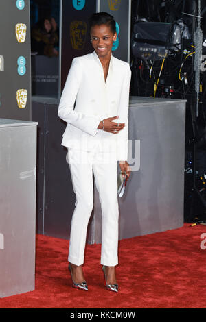 Londres, Royaume-Uni. 10 fév, 2019. Londres, Royaume-Uni. 10 février 2019 : pour l'arrivée de Wright Letitia BAFTA Film Awards 2019 au Royal Albert Hall, Londres. Photo : Steve Sav/Featureflash Crédit : Paul Smith/Alamy Live News Photo Stock