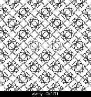 Vintage astratta geometrica pattern di sfondo background. Illustrazione Vettoriale Immagini Stock