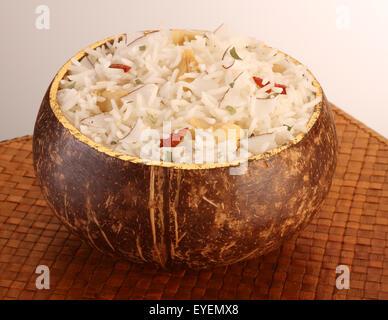Polinesiano riso di cocco Immagini Stock