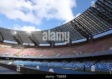 Stadio San Paolo a Napoli, Italia. 19 Maggio, 2019. Serie A Calcio, Napoli contro Inter Milan; Stadio San Paolo Credito: Azione Sport Plus/Alamy Live News Immagini Stock
