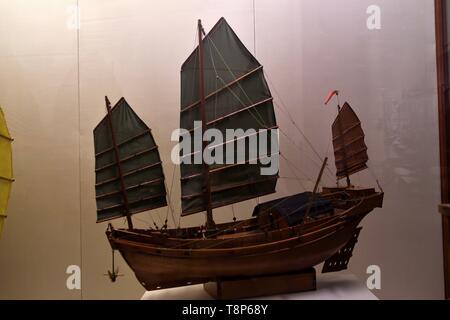 Repubblica popolare cinese (regione amministrativa speciale), Hong Kong Kowloon, museo di storia, il peschereccio per traino Immagini Stock