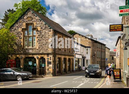 Regno Unito, Cumbria, York, Main Street, biblioteca pubblica nel 1858 Sala lettura Immagini Stock