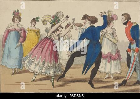 Il Bolero, 1800-1810. Collezione privata. Immagini Stock