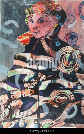 """Da """"Ritratto di una nobile signora dell' Sassone di Cranach 29/05/2015 - xxi secolo Noizet-Faucon Immagini Stock"""