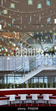 Vista interna dell'Ambasciata americana a Nine Elms, Londra, Regno Unito. Immagini Stock
