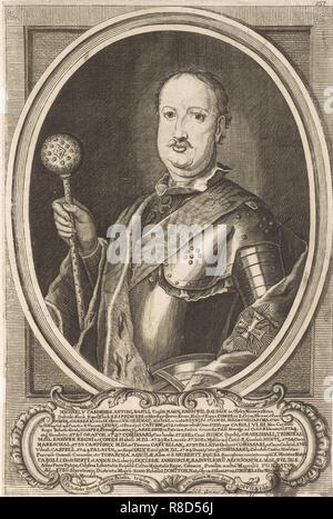 Michal Kazimierz Radziwill Rybenko (1702-1762). Da: Icones Familiae Ducalis Radivilianae, 1758. Collezione privata. Immagini Stock