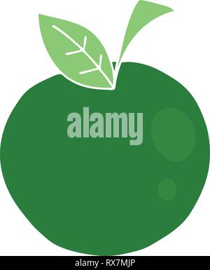 Disegnato a mano cartoon stravagante apple Immagini Stock