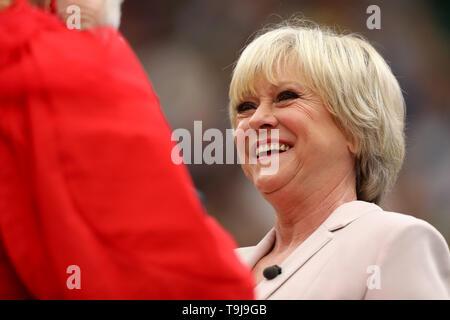 Londra, Regno Unito. Il 19 maggio 2019. Wimbledon Tennis Giocatori Day; Sue Parker interviste Paloma fede Credit: Azione Plus immagini di sport/Alamy Live News Immagini Stock