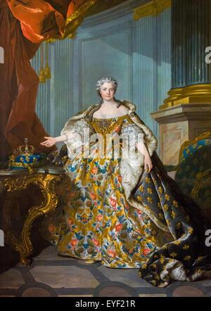 Marie Leczinska 10/12/2013 - XVIII secolo collezione Immagini Stock