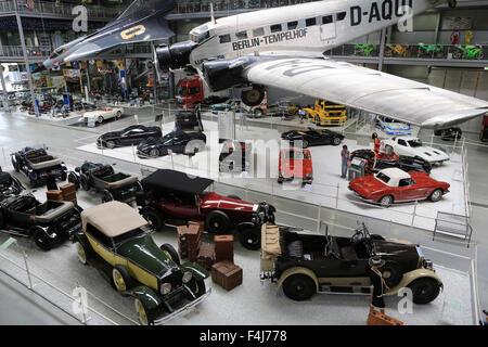 Berlino-tempelhof, Exhibition Apollo e oltre, la Technik Museum Speyer, Renania-Palatinato, Germania, Europa Immagini Stock