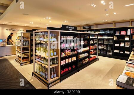 Francia, Parigi, Boulevard Haussman, Printemps du Goût, il negozio di specialità gastronomiche di Le Printemps Haussmann department store Immagini Stock