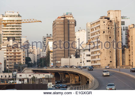 Vista di Beirut, Libano Immagini Stock