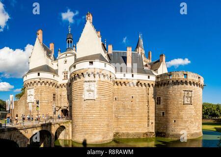 Francia, Loire Atlantique, Nantes, castello del Ducs de Bretagne (Duchi di Bretagna) Immagini Stock