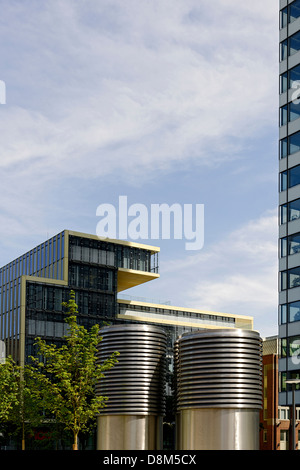 Architettura moderna, Valentinskamp, Amburgo, Germania Immagini Stock