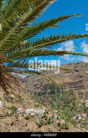 Valle Gran Rey nella parte occidentale dell isola di La Gomera. Immagini Stock