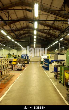 Fotografia di vuoto chiusa fabbrica industriale unità locali vuoti Immagini Stock
