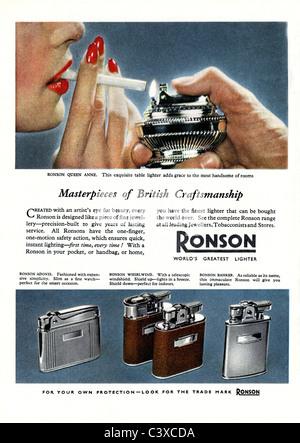 Pubblicità per la Ronson, dal Festival della Gran Bretagna guida, pubblicato da HMSO. Londra, UK, 1951 Immagini Stock