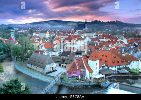 Repubblica ceca, Boemia del Sud, Cesky Krumlov Immagini Stock