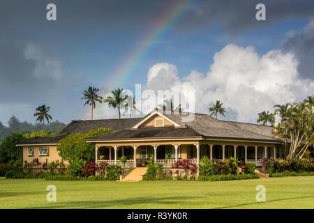 Hanalei Bay, Hawaii, Kauai, Kauikeolani Station Wagon Immagini Stock