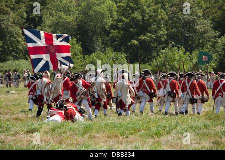 Canada,Ontario,Niagara-su-il-Lago,Fort George National Historic Park, rievocazione della rivoluzionaria guerra lealisti Immagini Stock