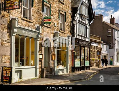 Regno Unito, Cumbria, York, Main Street, al forno e ristorante italiano della Smatt Duo Cafe Immagini Stock