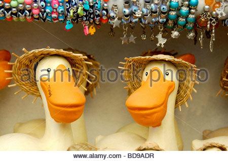 Un negozio di giocattoli a Mykonos in Grecia Immagini Stock